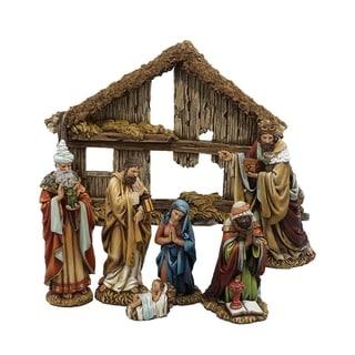 Kurt Adler 6-inch Resin 7-piece Nativity Set