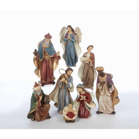 Kurt Adler 6.25-Inch Resin Nativity Set of 8 Pieces