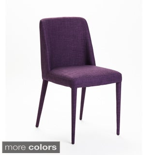 Aurelle Home Mia Purple Dining Chairs (Set of 2)