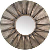 Aurelle Home Antique Brown Iron Sun Wall Mirror