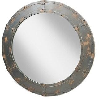 Aurelle Home Large Dark Brown Wall Mirror