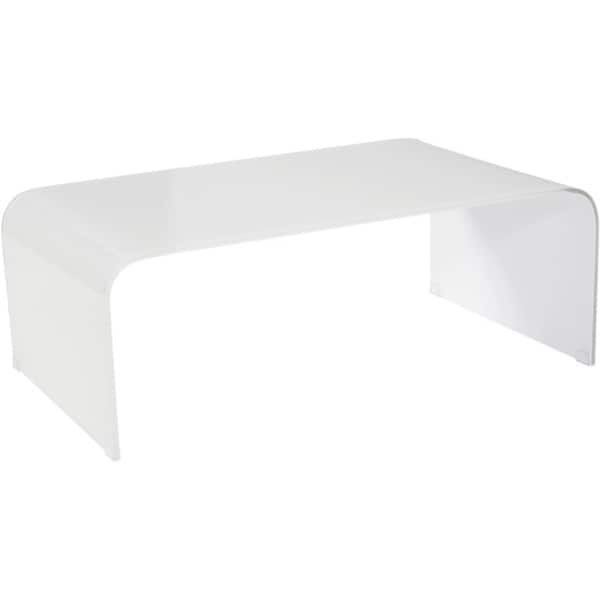 Small Tempered Glass Coffee Table: Shop Aurelle Home Clear Tempered Glass Coffee Table