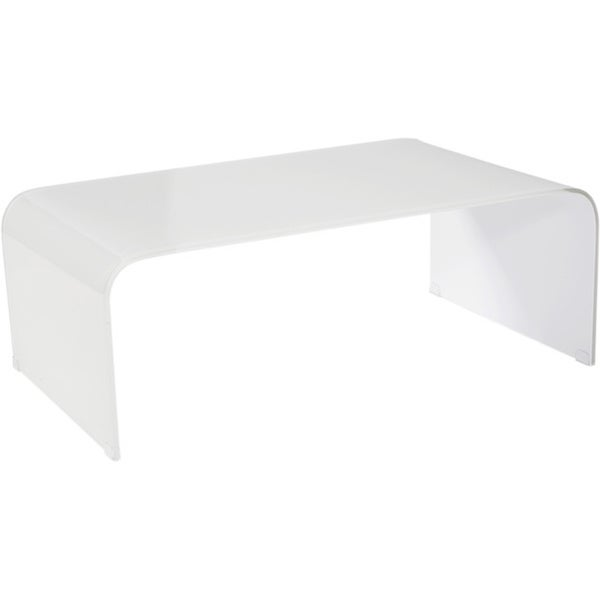 Shop Aurelle Home Clear Tempered Glass Coffee Table