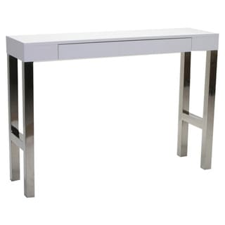 Aurelle Home White Lacquer Console Table