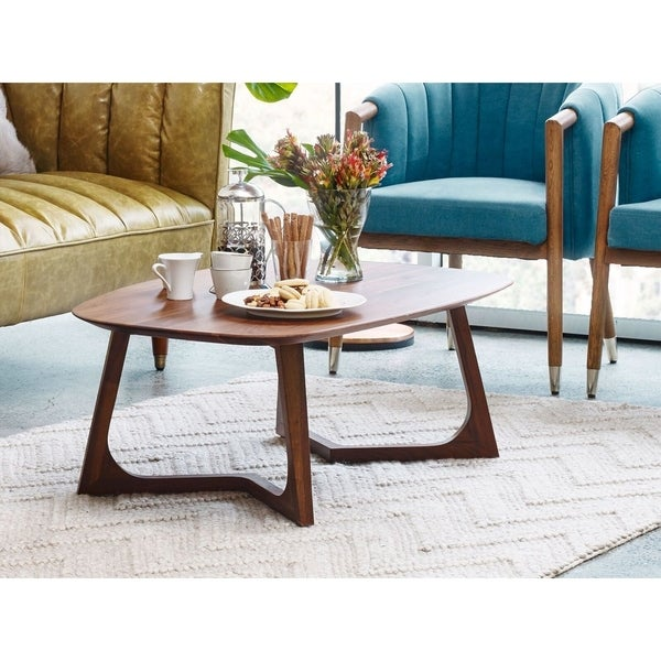 Shop Aurelle Home Solid American Walnut Coffee Table