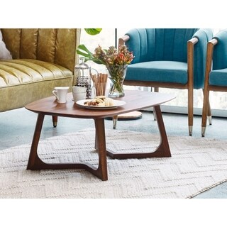 Aurelle Home Solid American Walnut Coffee Table
