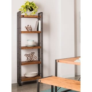 Open shelf bookcase deals reviews prices 12092397 for Furniture of america nara contemporary 6 shelf tiered open bookcase