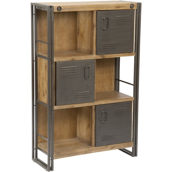 Shop Aurelle Home Rustic Antique Industrial Bookcase With