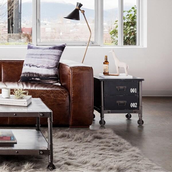 Aurelle Home Antique 2-drawer Black Rustic Industrial Cabinet