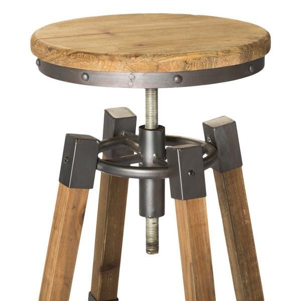 Phenomenal Shop Aurelle Home Industrial Wood And Iron Adjustable Bar Inzonedesignstudio Interior Chair Design Inzonedesignstudiocom