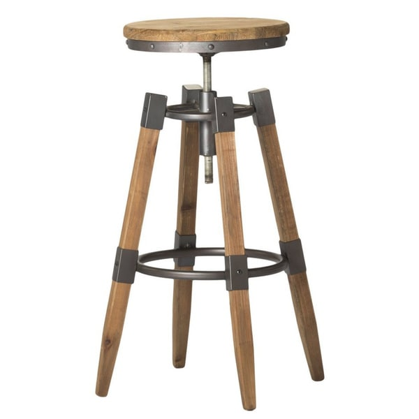 Aurelle Home Industrial Wood and Iron Adjustable Bar Stool  : Aurelle Home Industrial Wood and Iron Adjustable Bar Stool d99ff0b2 64ed 45c7 a50e 1be92a622e15600 from www.overstock.com size 600 x 600 jpeg 20kB