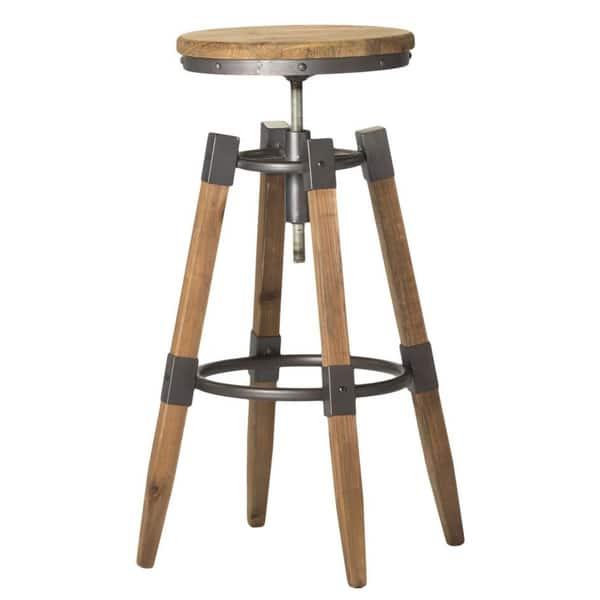 Amazing Shop Aurelle Home Industrial Wood And Iron Adjustable Bar Inzonedesignstudio Interior Chair Design Inzonedesignstudiocom