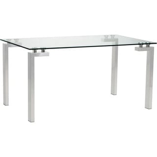 Aurelle Home Anderson Glass/ Steel Dining Table