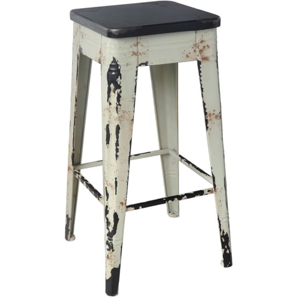 Aurelle Home Distressed Vintage Bistro Bar Stool