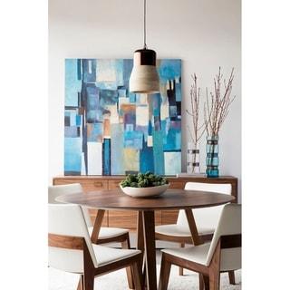 """Aurelle Home Gideon Solid Walnut Modern Round Dining Table - 29.50"""" x 47"""" x 47"""""""