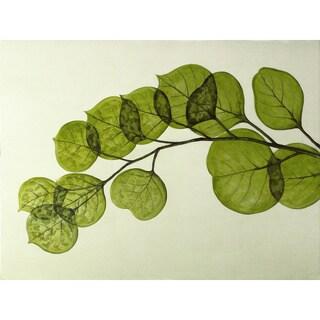 Aurelle Home 'Summer' Green Leaves Acrylic Canvas Art