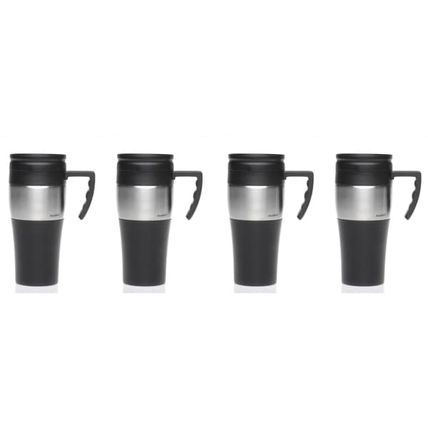 insulated stainless steel travel mug set of 4