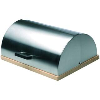 Cubo Stainless Steel/ Rubberwood Bread Bin