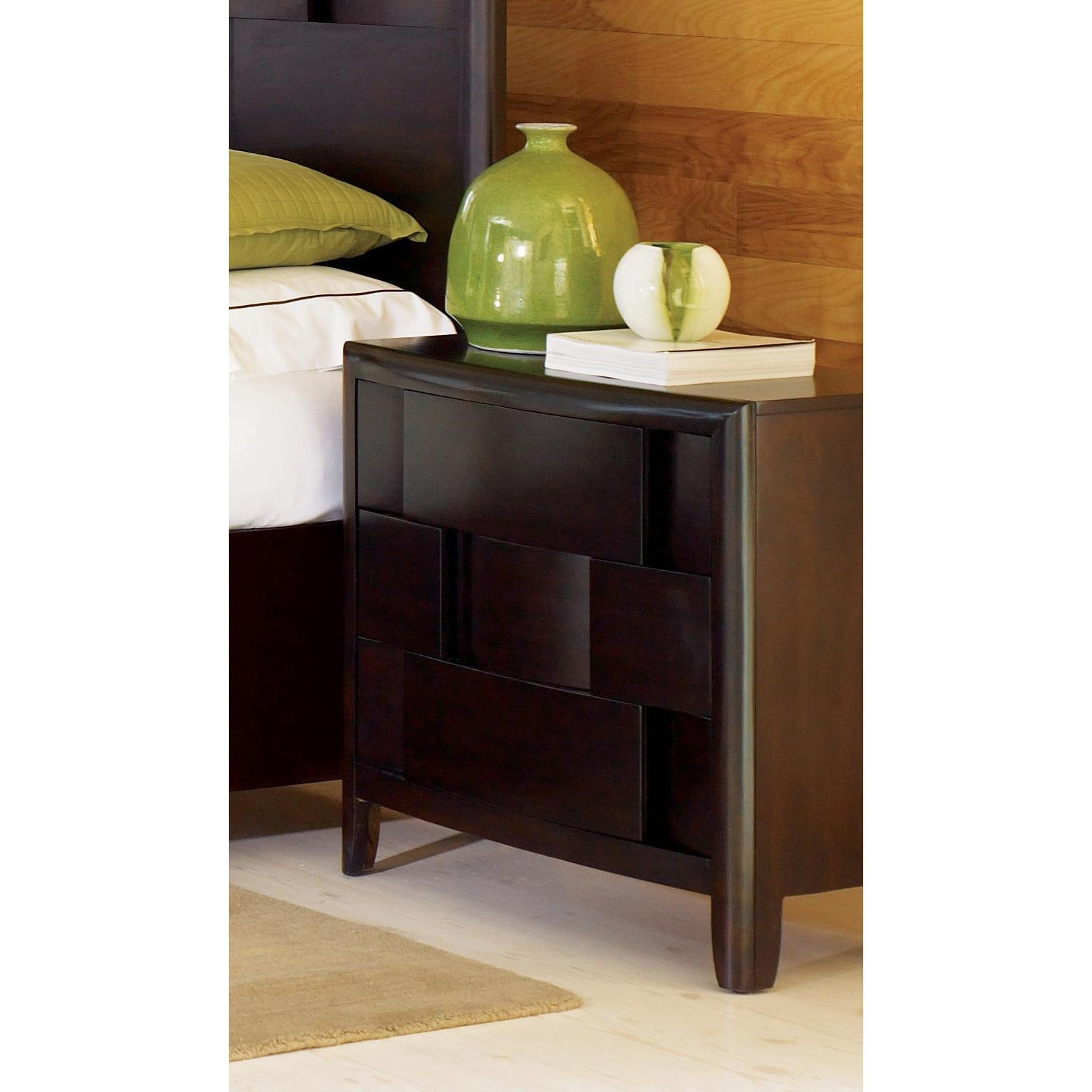 Magnussen Home Magnussen B1428 Nova Wood 3-drawer Nightst...