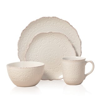 Pfaltzgaff Everyday Chateau Cream 16-piece Dinnerware Set  sc 1 st  Overstock.com & Red Dinnerware For Less | Overstock