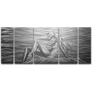 'Beauty by The Sea' 5-panel Handmade Metal Wall Art