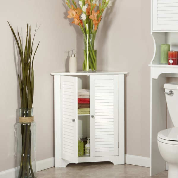 bathroom tall corner cabinet shop riverridge home ellsworth corner cabinet free 11733
