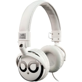 Bell'O White and Dark Chrome Over-the-head Headphones with Track Cont