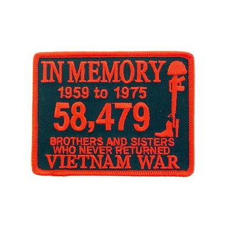 Embroidered Vietnam War In Memory Patch
