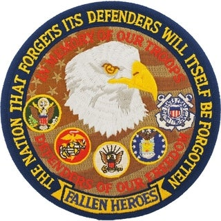 US Fallen Heroes Small Round Embroidered Patch