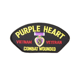 Purple Heart Combat Wounded Small Embroidered Patch