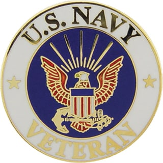 United States Navy Veteran Pin
