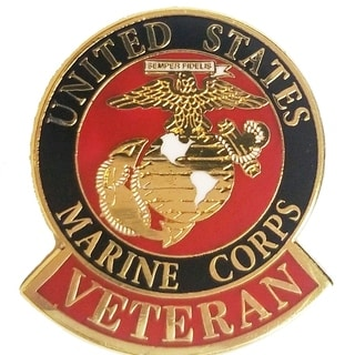 United States Marine Veteran Pin