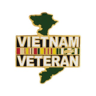Vietnam Veteran Country Pin with Clasp