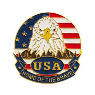 Home Of The Brave Patriotic Pin (Option: Multi)