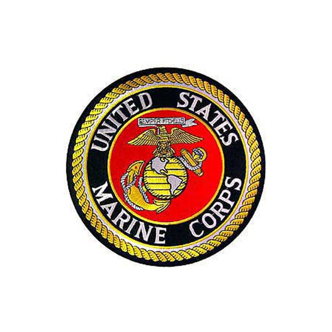 "United States Marine Corps Large Patch (10""), Multi (Poly..."