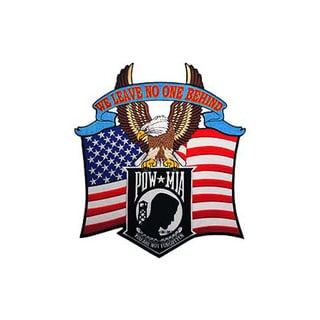 POW MIA 'We Leave No One Behind' Military Patch