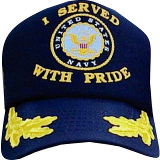 US Navy 'I Served With Pride' Scrambled Eggs Cap