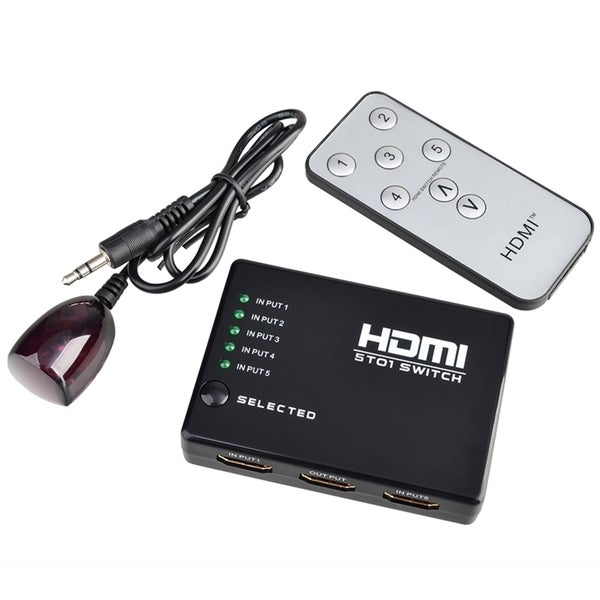 INSTEN High Performance/ Speedy HDMI Splitter for HDTV PS3 DVD with IR Remote