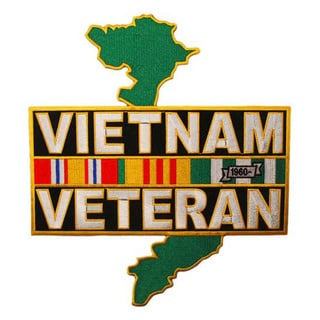 Embroidered Vietnam Veteran Large Patch
