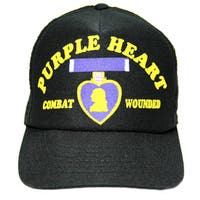 Combat Wounded with Purple Heart Military Baseball Cap