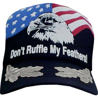 Don't Ruffle My Feathers Scrambled Eggs Patriotic Baseball Cap