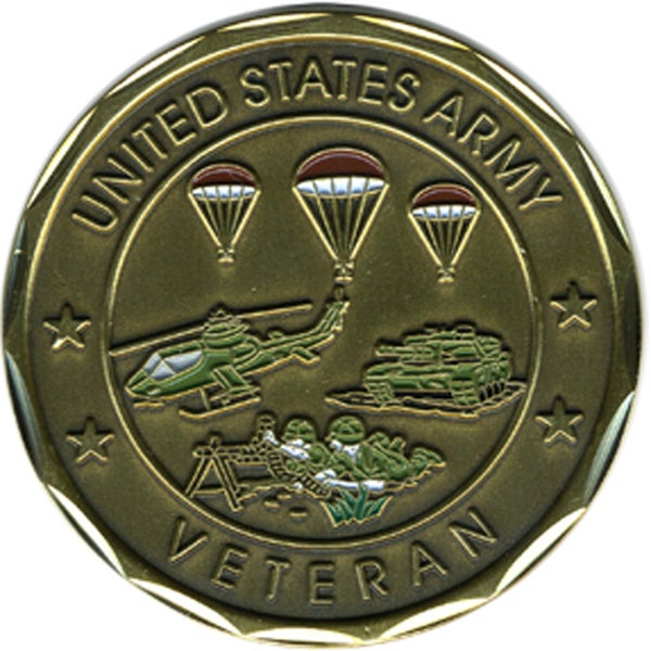 US Army Proud Veteran Challenge Coin