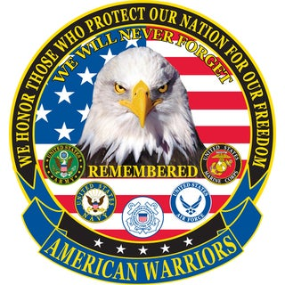 American Warriors Large Patch