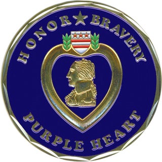 Bronze Alloy Purple Heart Coin