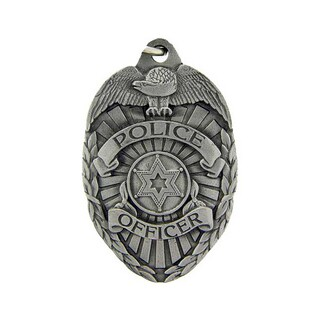 Police Officer Badge Metal Key Ring