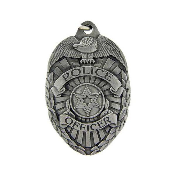 Police Officer Badge Metal Key Ring