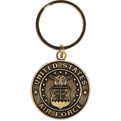 United States Bronze Air Force Keychain