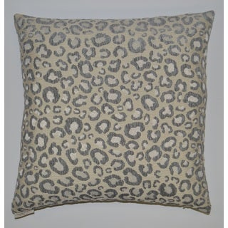 Silver Sarafina Feather Filled Throw Pillow