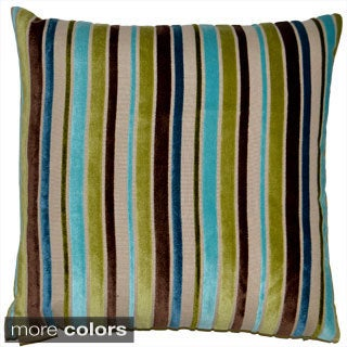 Ribbon Feather Filled Throw Pillow