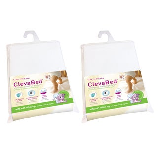 Clevamama ClevaBed Brushed Cotton Waterproof Fitted Mattress Protector (Pack of 2)